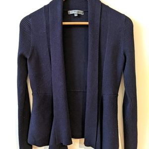 89th and Madison |Blue Ribbed Cardigan